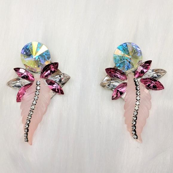 Vintage Jewelry - Designer Rhinestone Earrings